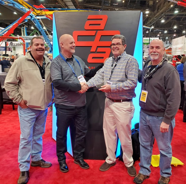 Blanchet Concrete Pumping Recives Technology Award.