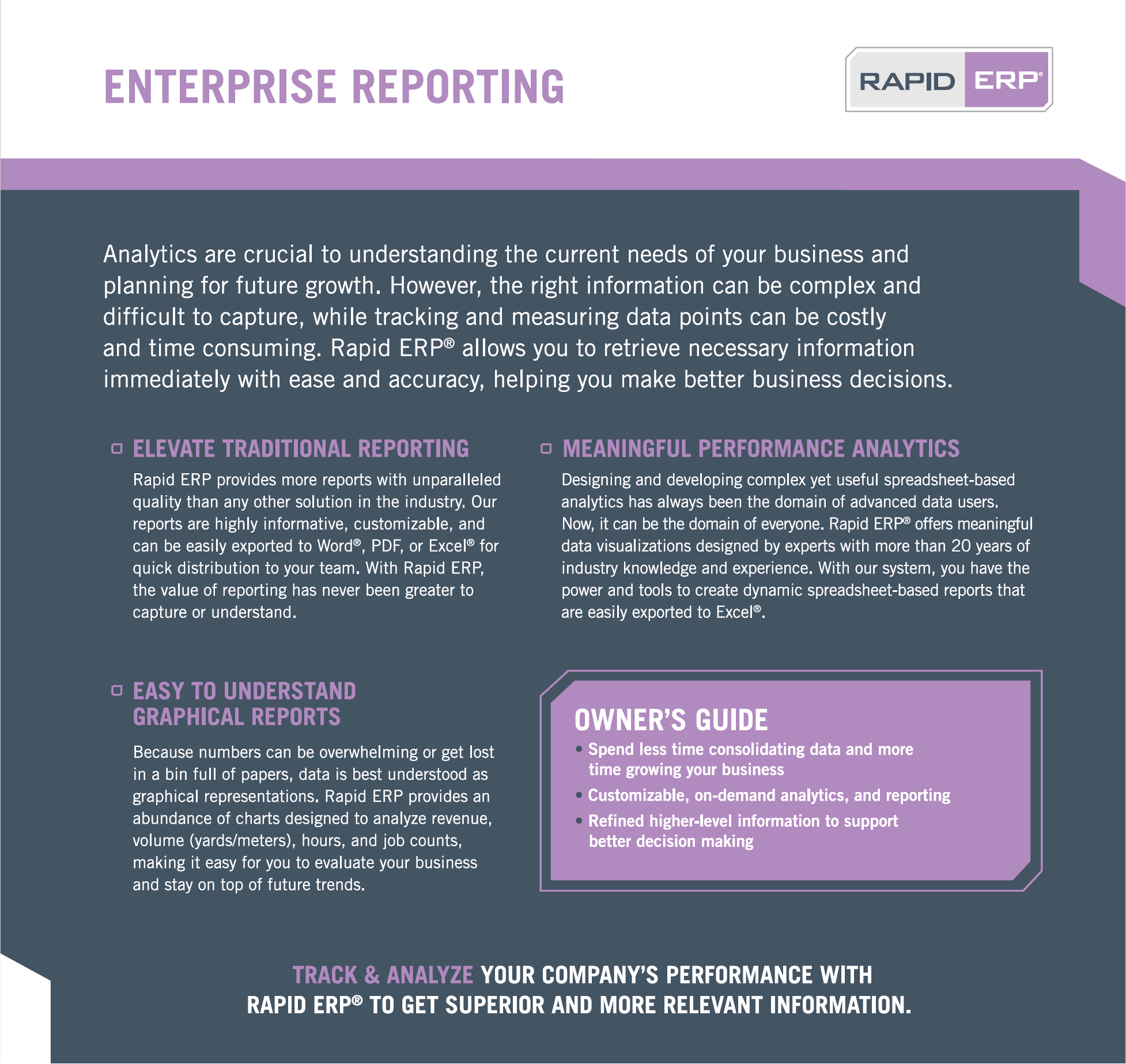 Rapid ERP - Enterprise Reporting
