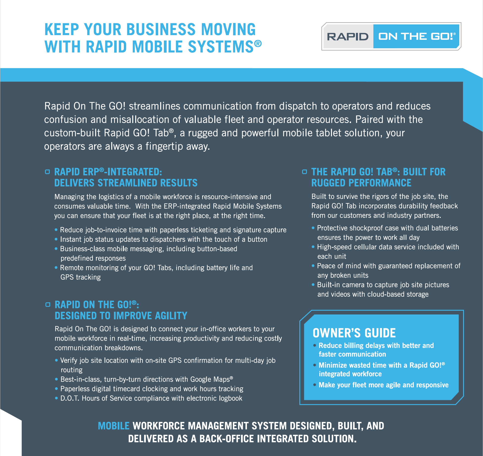 Rapid On The Go! - Keep Your Business Moving